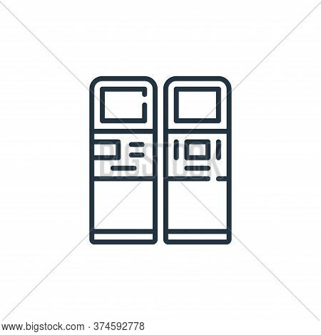 atm icon isolated on white background from mall collection. atm icon trendy and modern atm symbol fo