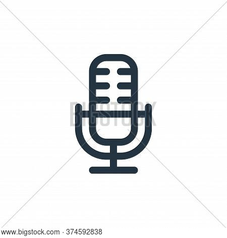 microphone icon isolated on white background from communication and media collection. microphone ico