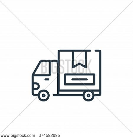 delivery truck icon isolated on white background from delivery collection. delivery truck icon trend