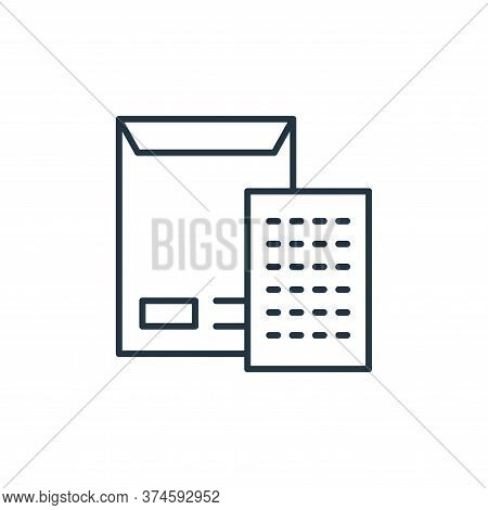 envelope icon isolated on white background from stationery collection. envelope icon trendy and mode