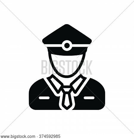 Black Solid Icon For Ticket-collector Ticket Collector Ticket-taker Checker Person