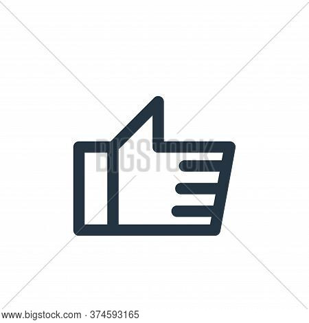 like icon isolated on white background from multimedia collection. like icon trendy and modern like