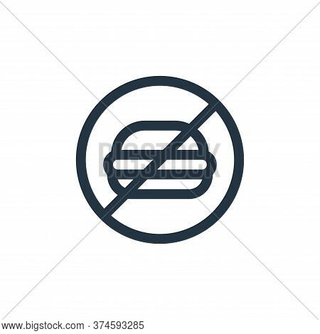 no fast food icon isolated on white background from health collection. no fast food icon trendy and