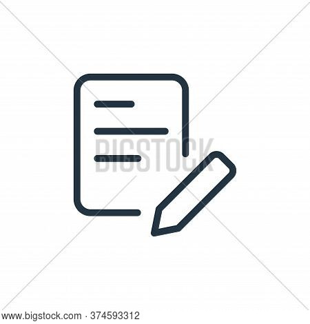 edit icon isolated on white background from work office supply collection. edit icon trendy and mode