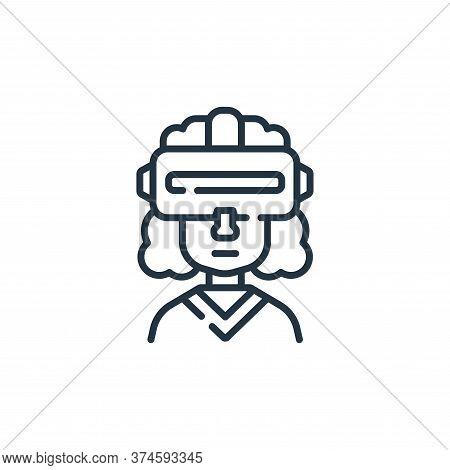 Virtual glasses icon isolated on white background from fantastic characters collection. Virtual glas