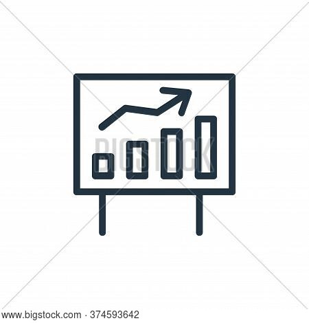 growth chart icon isolated on white background from banking and finance flat icons collection. growt