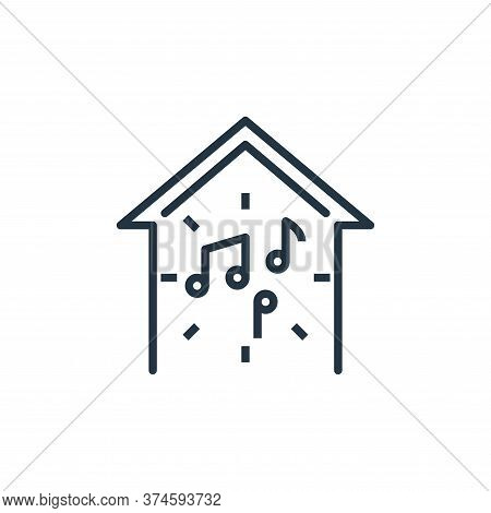music icon isolated on white background from work from home collection. music icon trendy and modern