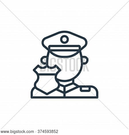 policeman icon isolated on white background from motorway collection. policeman icon trendy and mode