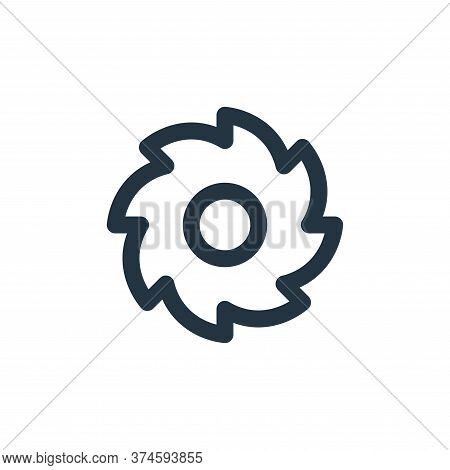 circular saw icon isolated on white background from labour day collection. circular saw icon trendy