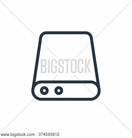 database storage icon isolated on white background from work office server collection. database stor