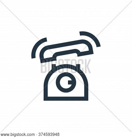 telephone icon isolated on white background from news collection. telephone icon trendy and modern t