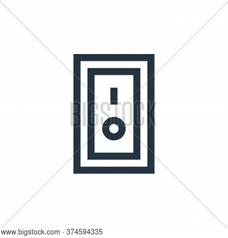 switch on icon isolated on white background from electrician tools and elements collection. switch o