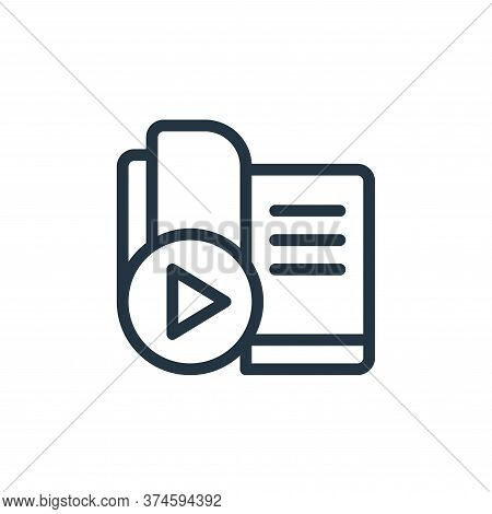 ebook icon isolated on white background from online learning collection. ebook icon trendy and moder