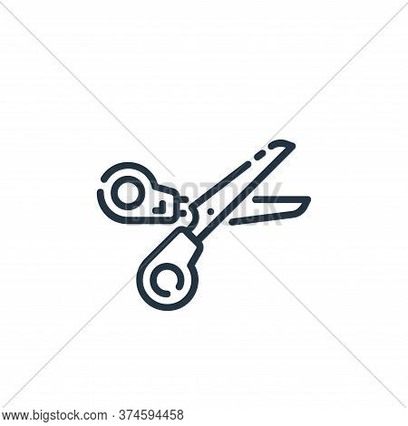scissors icon isolated on white background from user interface collection. scissors icon trendy and