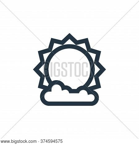 sun icon isolated on white background from ramadan collection. sun icon trendy and modern sun symbol