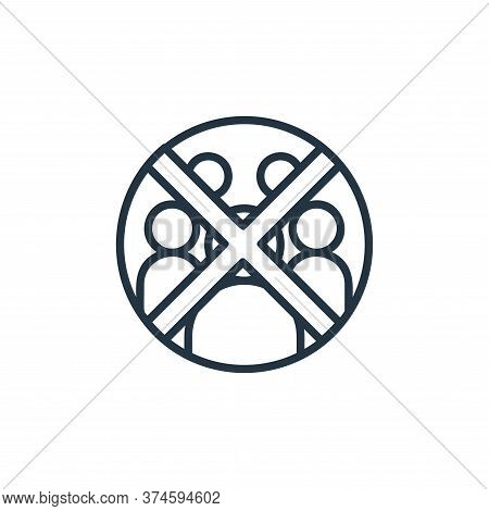 crowd icon isolated on white background from covid collection. crowd icon trendy and modern crowd sy