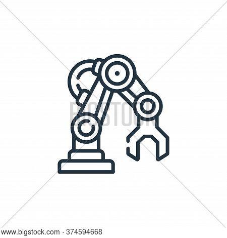 robotic arm icon isolated on white background from robotics collection. robotic arm icon trendy and