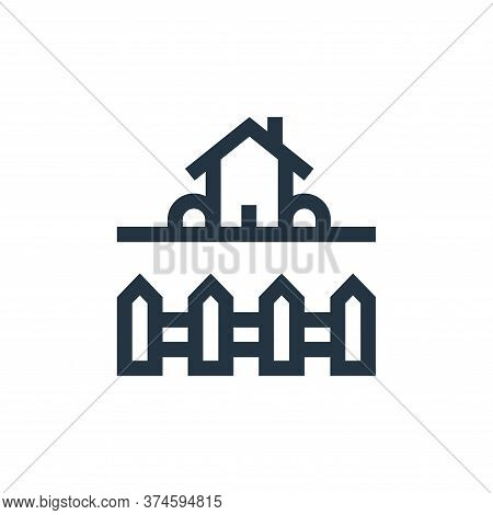 backyard icon isolated on white background from real estate collection. backyard icon trendy and mod