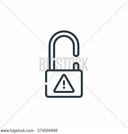 unlock icon isolated on white background from hacker collection. unlock icon trendy and modern unloc