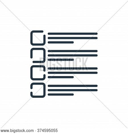 checklist icon isolated on white background from user interface collection. checklist icon trendy an