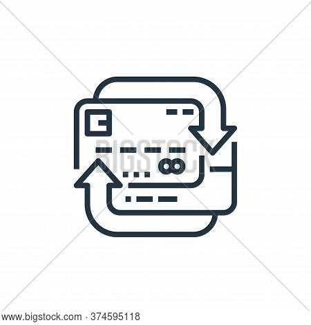 credit card icon isolated on white background from recycling collection. credit card icon trendy and