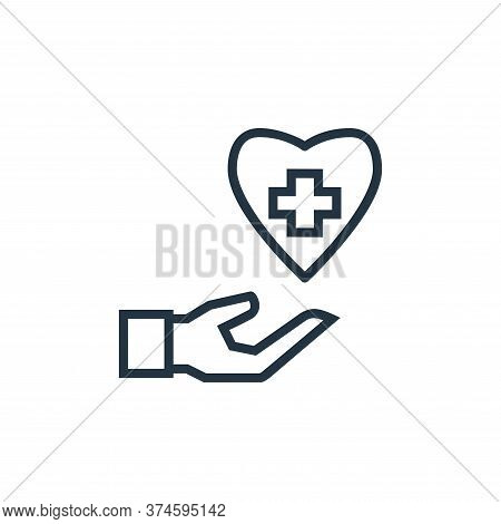 healthcare icon isolated on white background from hospital collection. healthcare icon trendy and mo