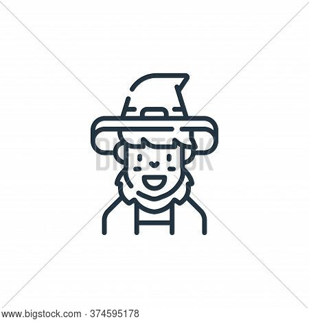 wizard icon isolated on white background from fantastic characters collection. wizard icon trendy an