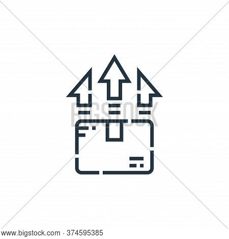 upload icon isolated on white background from delivery collection. upload icon trendy and modern upl