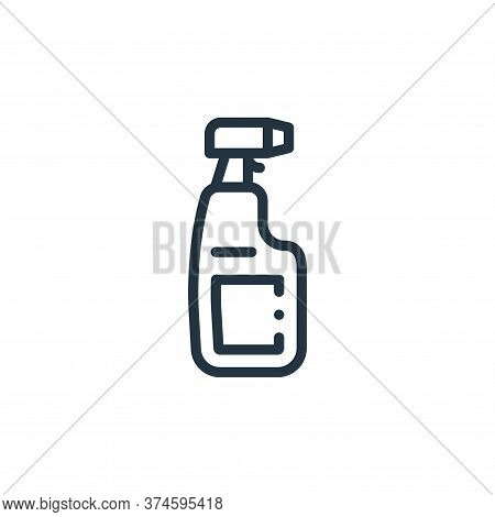 cleaning spray icon isolated on white background from plastic products collection. cleaning spray ic