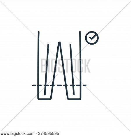 sewing icon isolated on white background from clothes and outfit collection. sewing icon trendy and