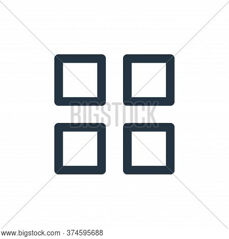 apps icon isolated on white background from user interface collection. apps icon trendy and modern a