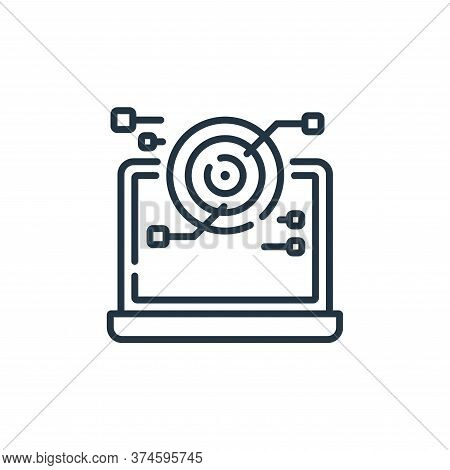 scan icon isolated on white background from robotics collection. scan icon trendy and modern scan sy