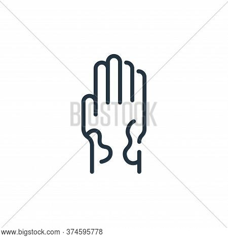hand icon isolated on white background from virus transmission collection. hand icon trendy and mode