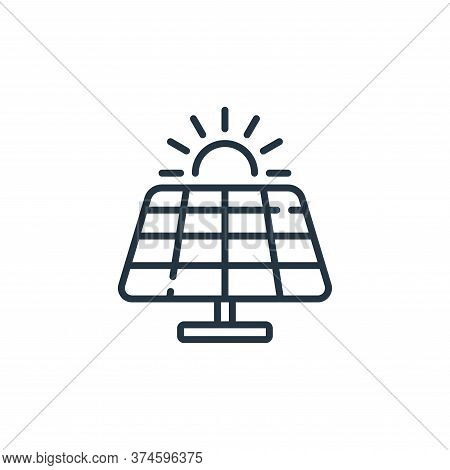solar panel icon isolated on white background from technology of the future collection. solar panel
