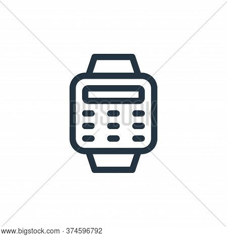 smartwatch icon isolated on white background from electronics collection. smartwatch icon trendy and