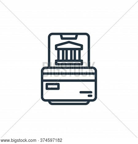 online banking icon isolated on white background from stay at home collection. online banking icon t