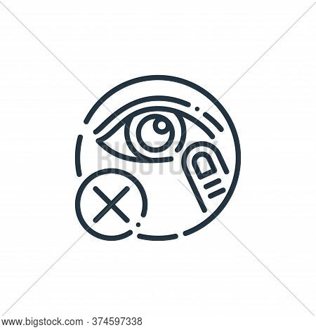 eye icon isolated on white background from virus spread collection. eye icon trendy and modern eye s