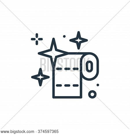 toilet paper icon isolated on white background from hygiene collection. toilet paper icon trendy and