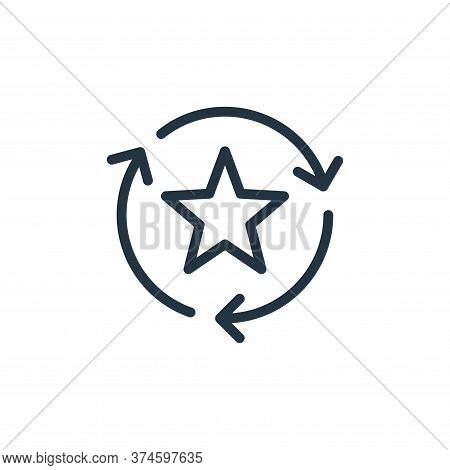 favorite icon isolated on white background from data transfer collection. favorite icon trendy and m