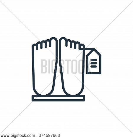 dead body icon isolated on white background from funeral collection. dead body icon trendy and moder