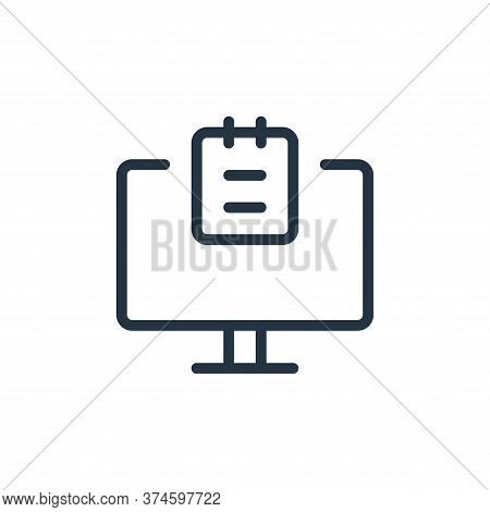 computer icon isolated on white background from work office supply collection. computer icon trendy