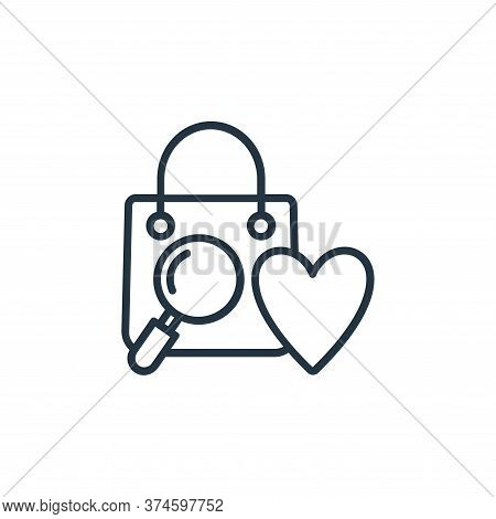 shopping bag icon isolated on white background from shopping line icons collection. shopping bag ico