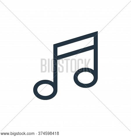 musical note icon isolated on white background from web essentials collection. musical note icon tre
