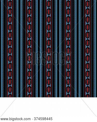 African Traditional Ornament. Seamless Pattern With Geometric Ornament. Ancient Traditions. Vector.