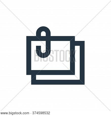 sticky notes icon isolated on white background from office stationery collection. sticky notes icon