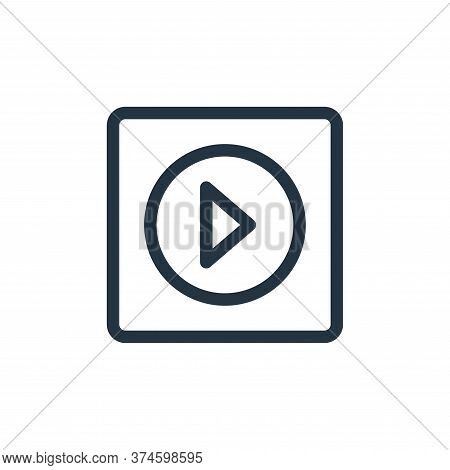 music player icon isolated on white background from electronics collection. music player icon trendy