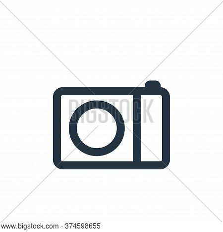camera icon isolated on white background from electronic and device collection. camera icon trendy a