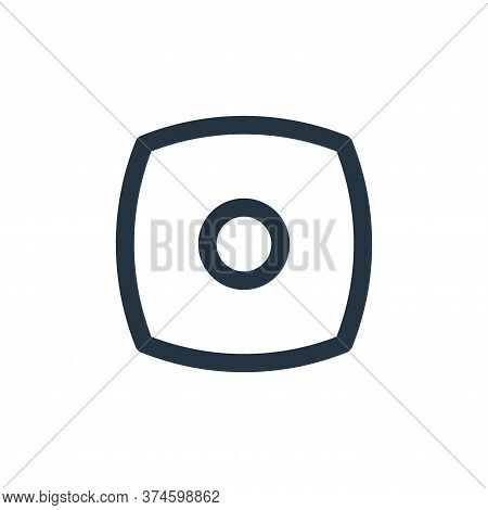 stop icon isolated on white background from basic ui collection. stop icon trendy and modern stop sy