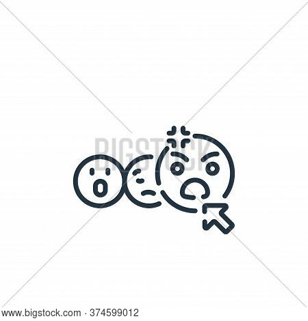angry face icon isolated on white background from social media collection. angry face icon trendy an