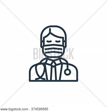 doctor icon isolated on white background from virus transmission collection. doctor icon trendy and
